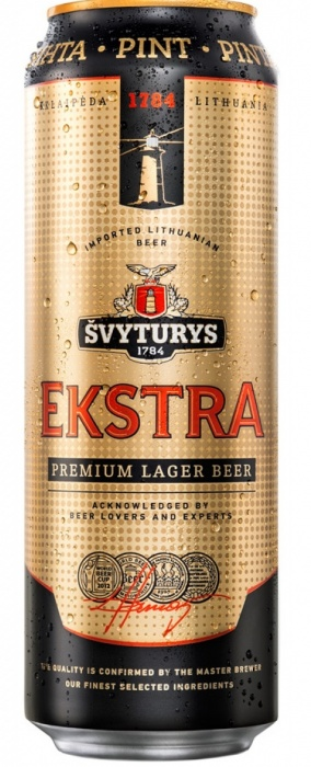 Beer Svyturio Extra 5.2% 0.568L