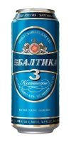 Beer BALTIKA N3 4,8% 0.5L can