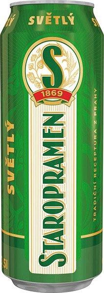 Beer staropramen 0.5L 4% can