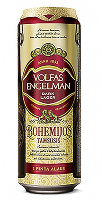 Beer V.E. Bohemijos dark 4.2% 0.568L can
