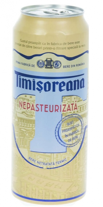 Beer Timisoreana unpasteurized 0.5L